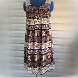 Rabbit Designs | Sleeveless Brown Shift Dress